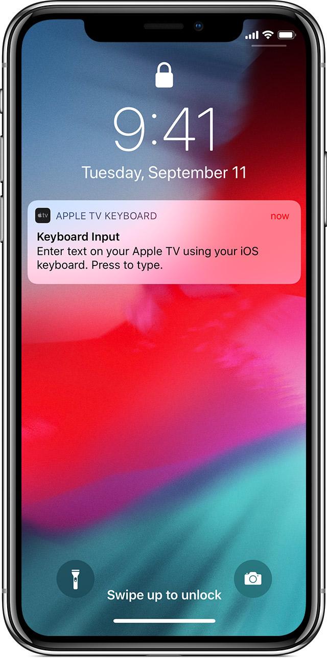 apple tv remote app keyboard