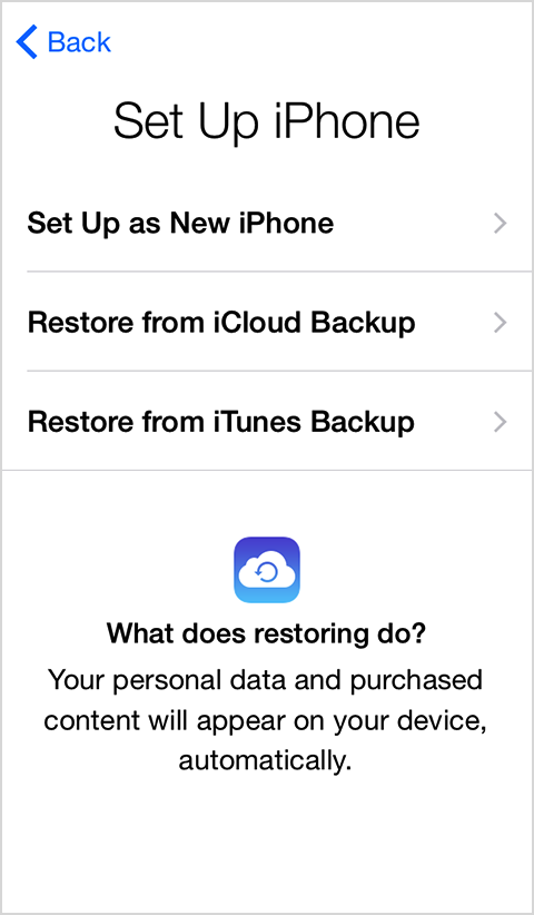 restoring iphone from backup how to restore your ios devices from icloud or itunes back up 16019