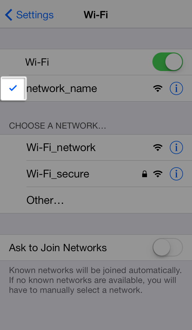 how to open page to connect wifi in ifone
