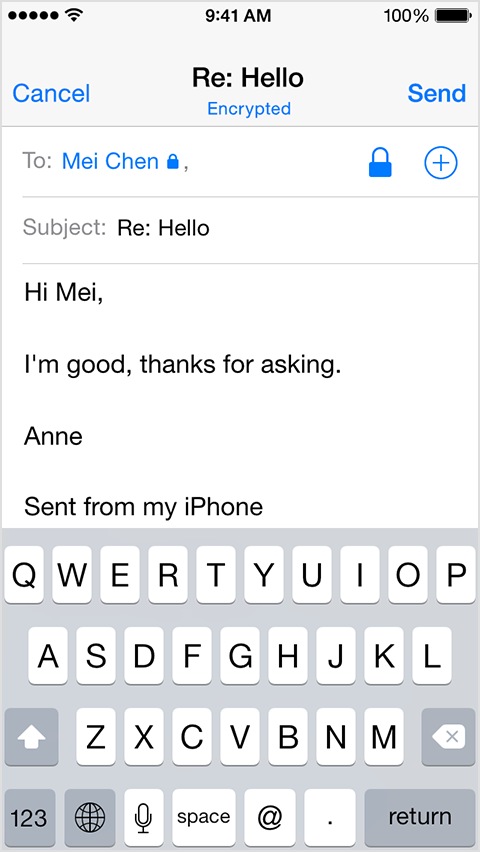 How can i send email from iphone