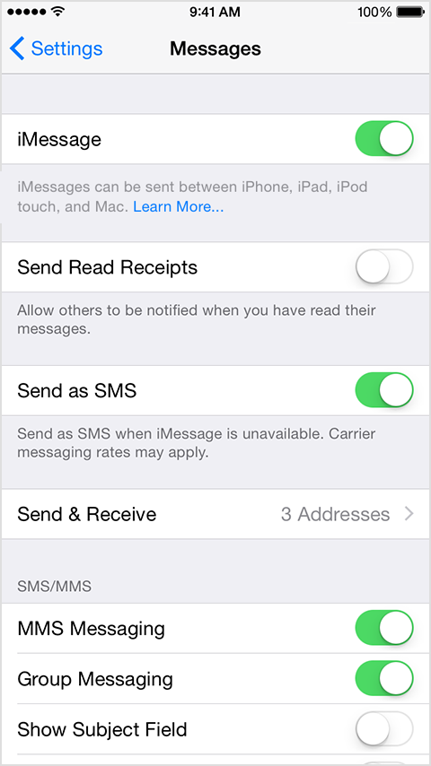 Iphone Won T Send Texts To Android Phones Apple Community