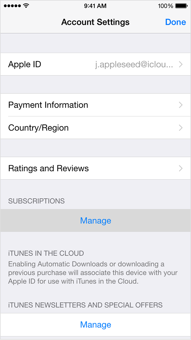 No subscription button in the settings | Official Apple Support ...