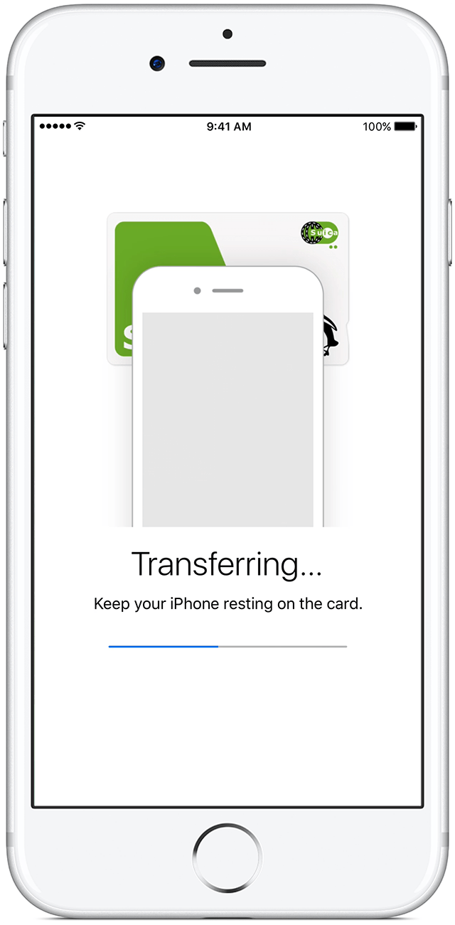image of adding Suica card to iPhone