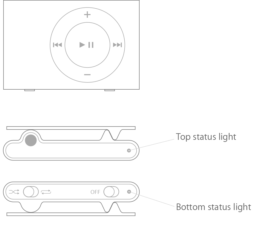 check the status light and battery charge on your ipod shuffle rh support apple com Apple iPod 4th Generation Manual apple ipod shuffle 4th generation manual