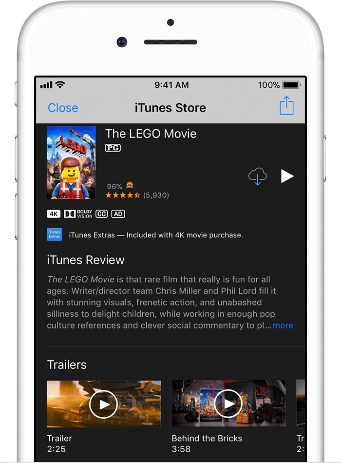 Redownload apps, music, movies, TV shows, and books from the iTunes ...