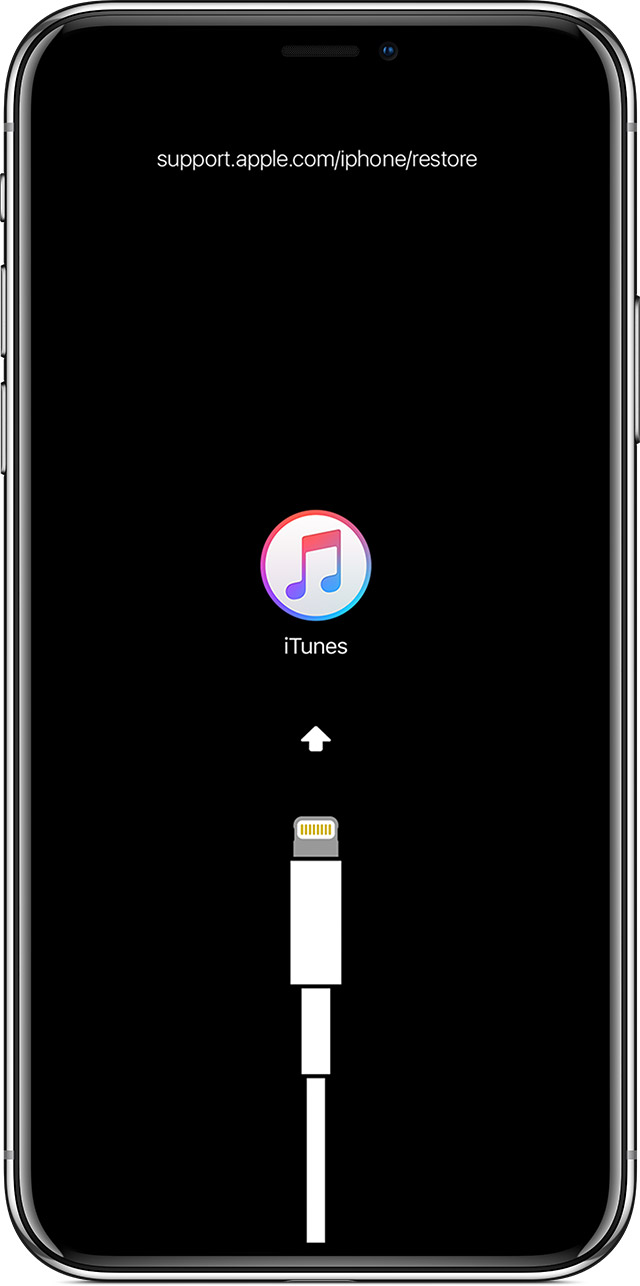If you see the Connect to iTunes screen on your iPhone ...