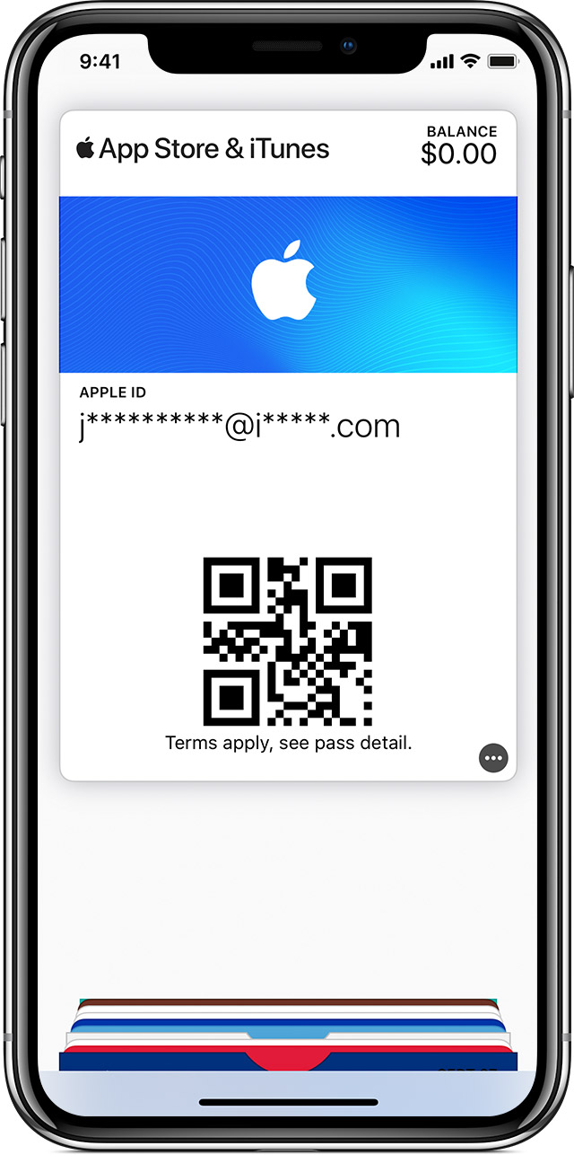 An iPhone X showing an iTunes Pass.