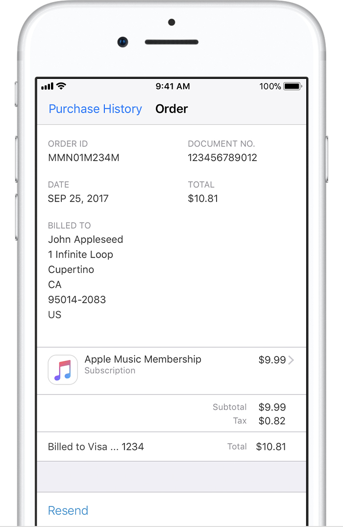 See Your Purchase History In The App Store Or ITunes Store Apple - Apple iphone invoice