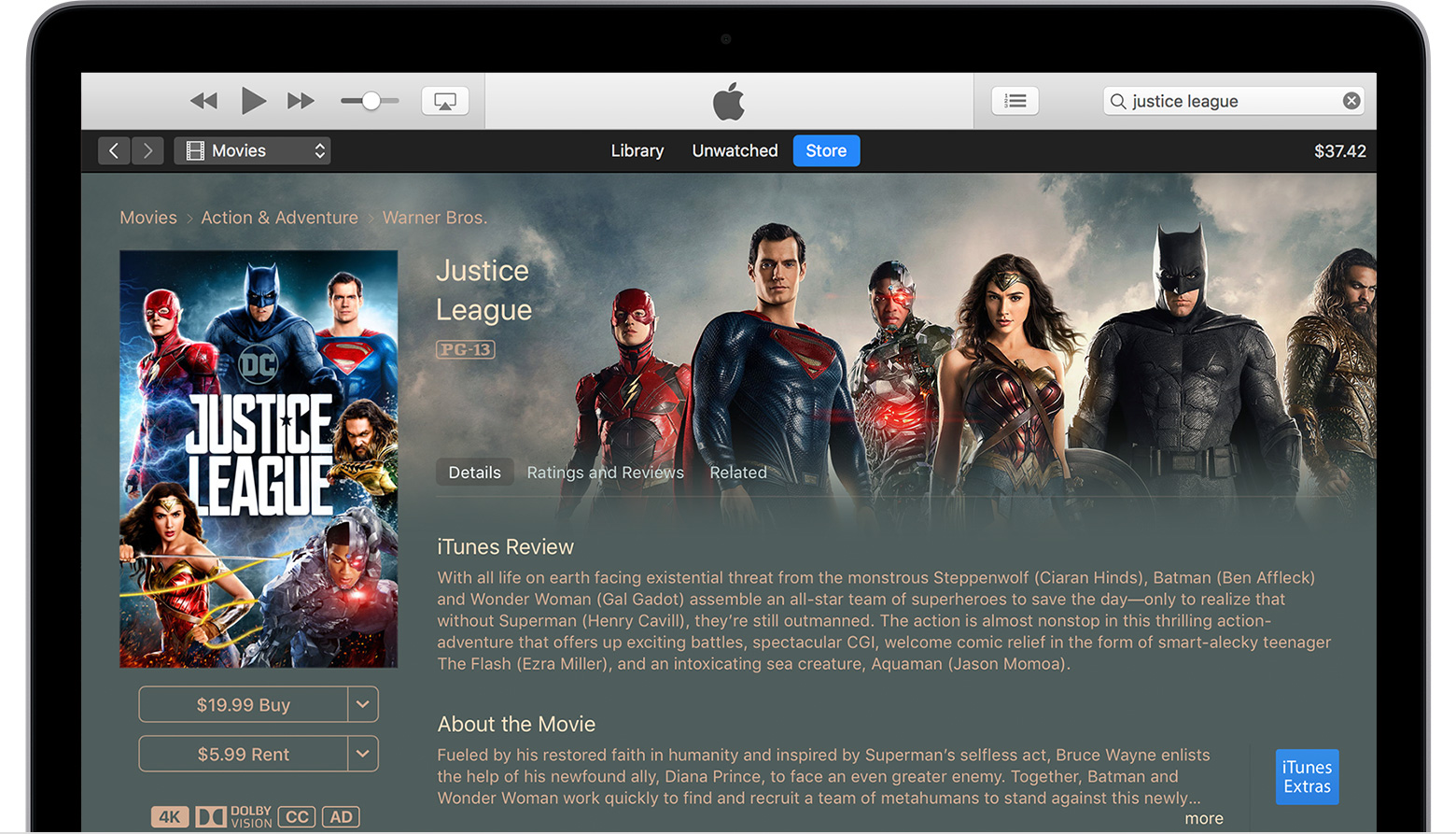 save movies in itunes