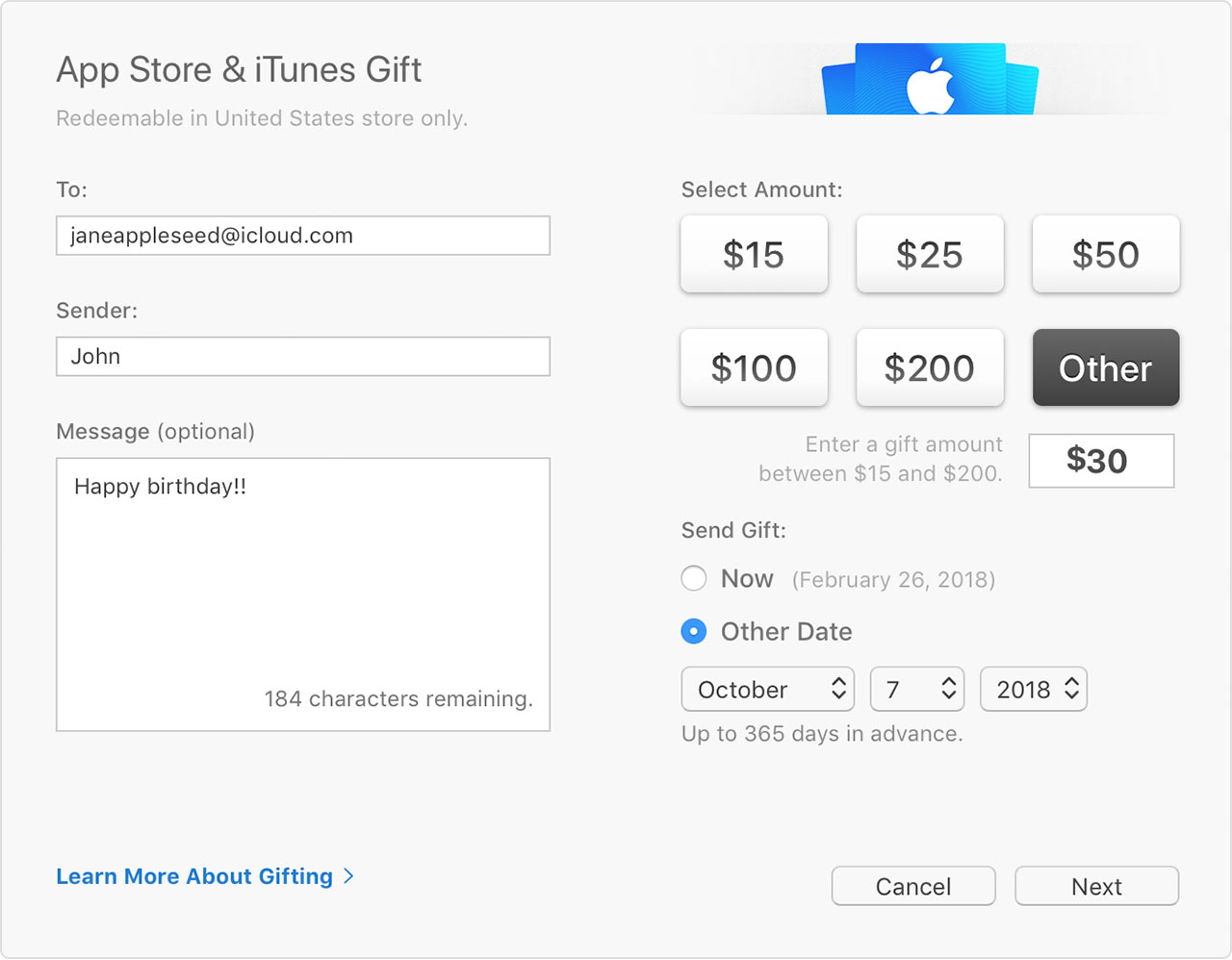 add itunes gift card to iphone