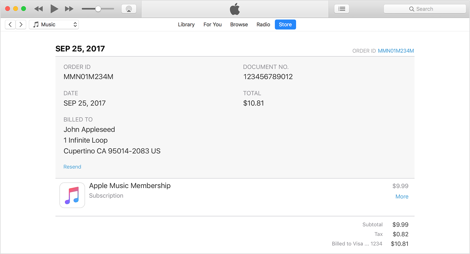 See Your Purchase History In The App Store Or ITunes Store Apple - Appstore invoice