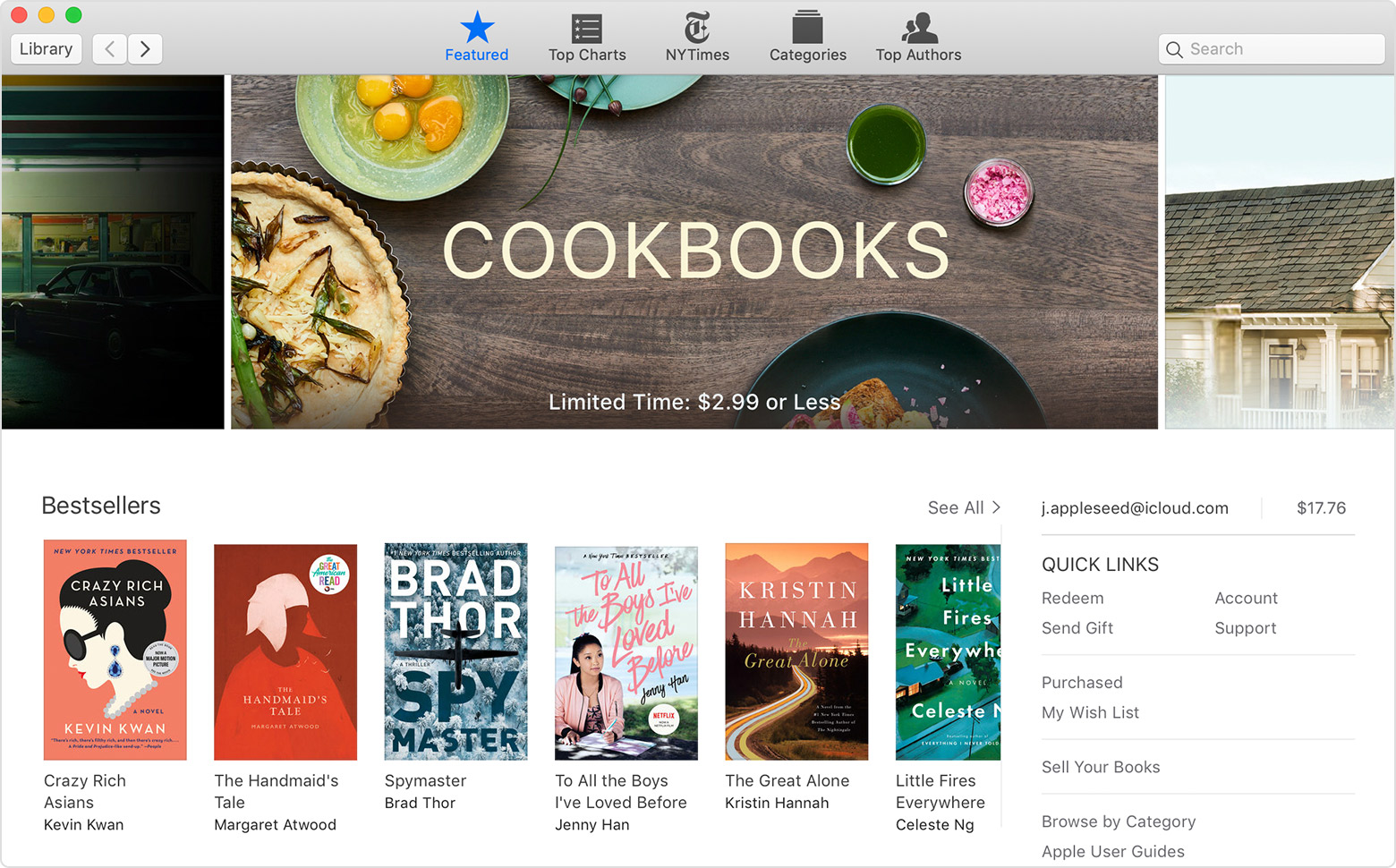 An Apple Books on Mac window showing the Book Store.