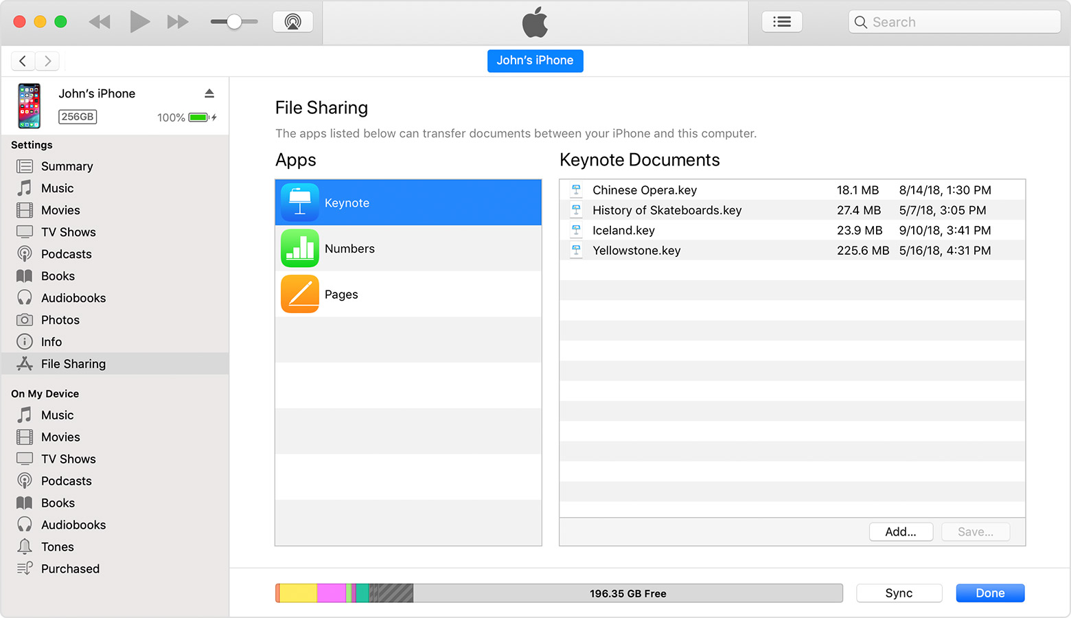 Use iTunes to share files between your computer and your iPhone
