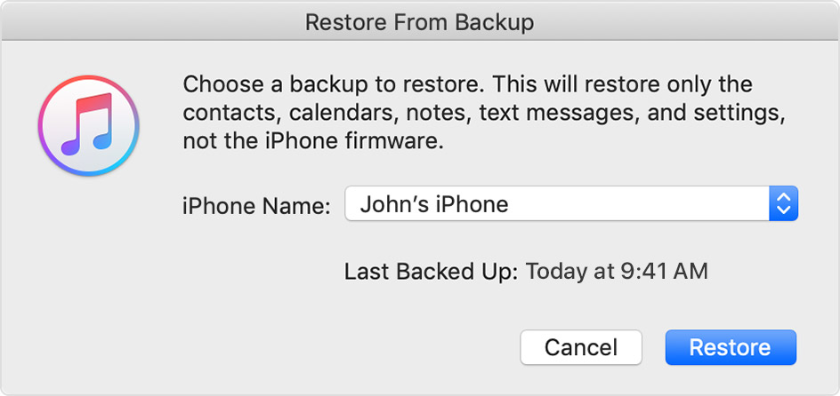 How do i restore my new iphone 8 from itunes backup