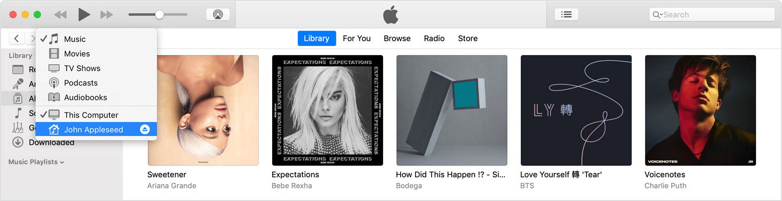 How to share my itunes library with another computer