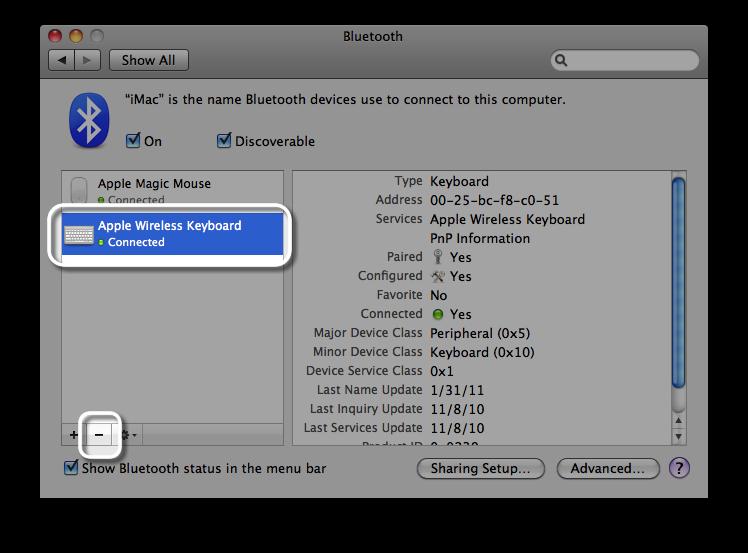 and mac mini bluetooth keyboard initial setup product's