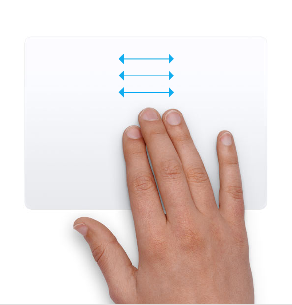 turn on three finger swipe mac