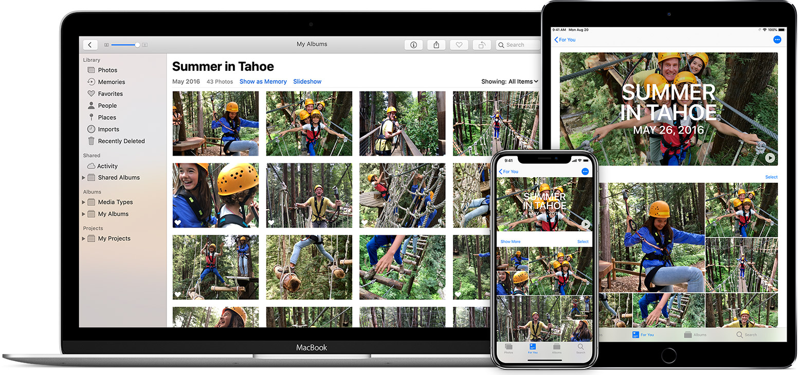 iCloud Photos on Mac, iPhone, and iPad