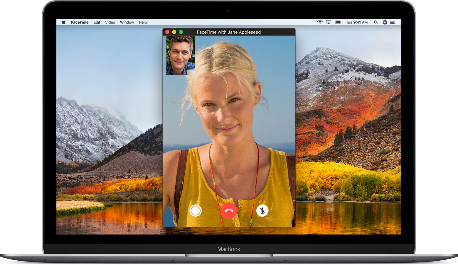 FaceTime application on a Mac