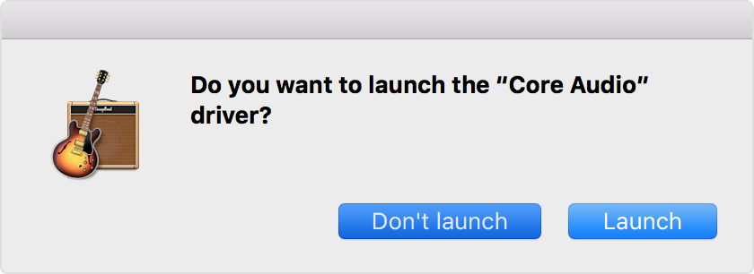 If GarageBand for Mac won't open or play back your project
