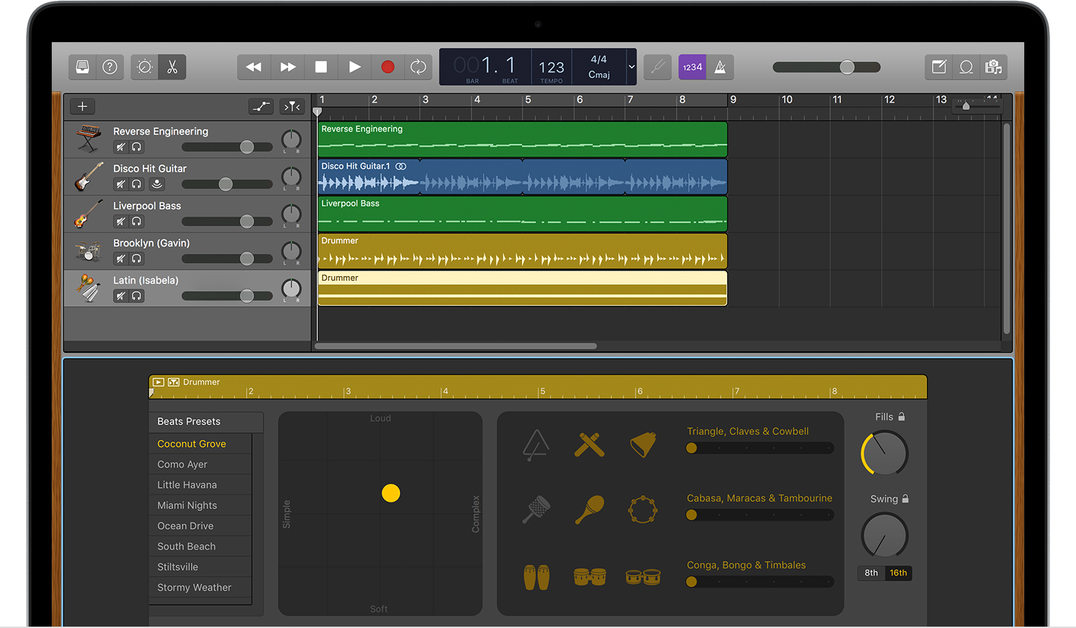 Work with percussionists in GarageBand for Mac - Apple Support