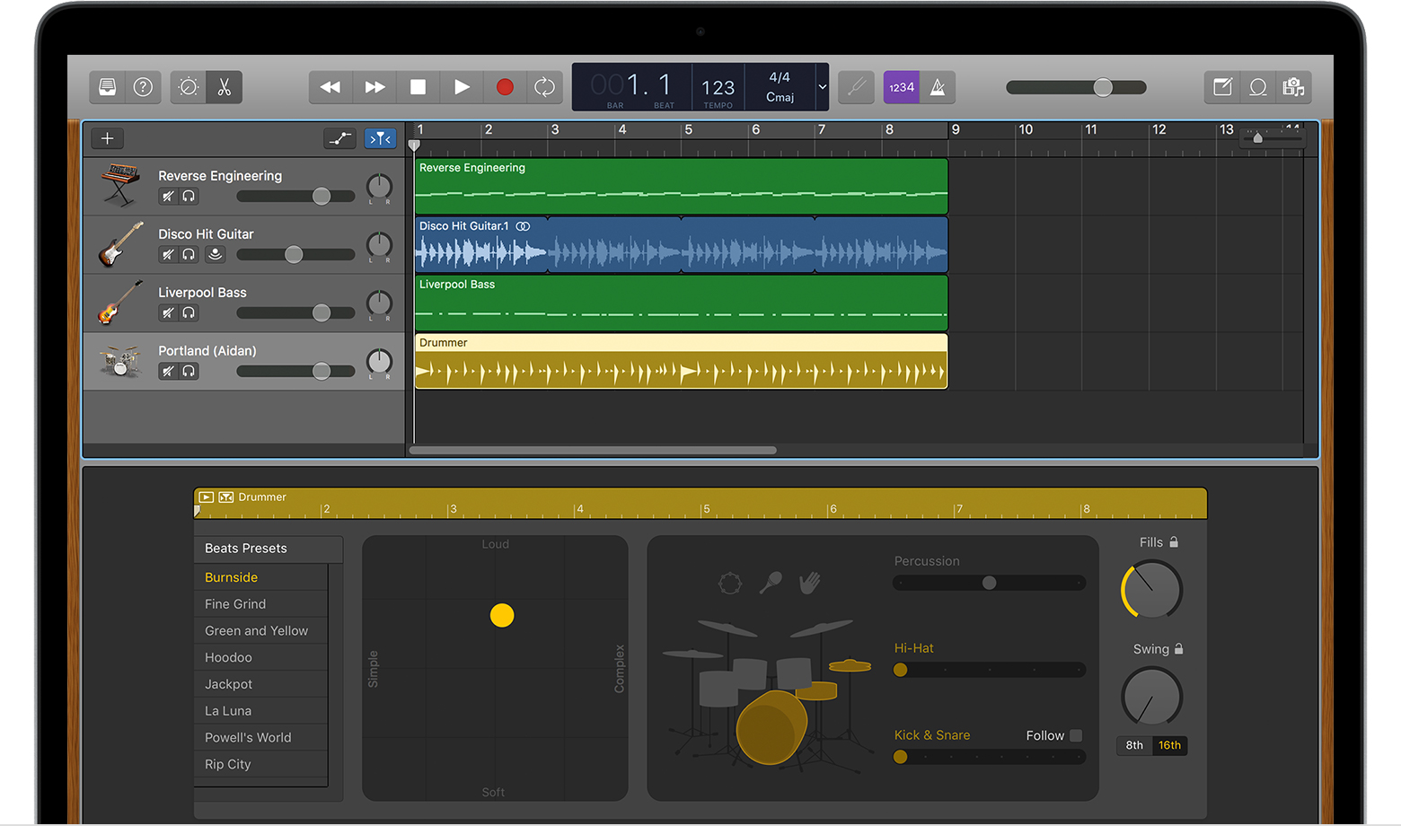 Use Drummer Loops in GarageBand for Mac - Apple Support