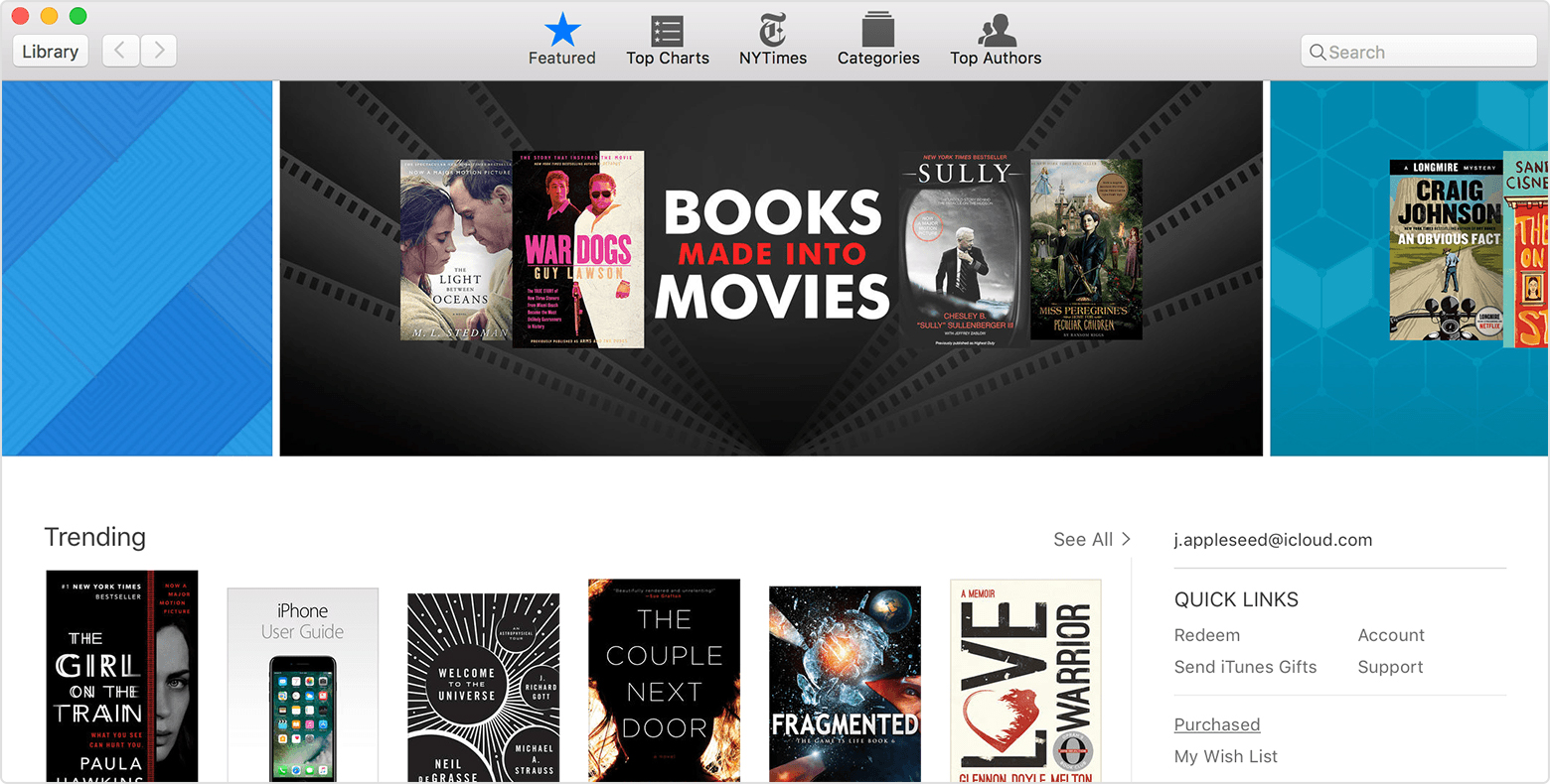Under Quick Links On The Right Side Of The Ibooks Store, Click Purchased