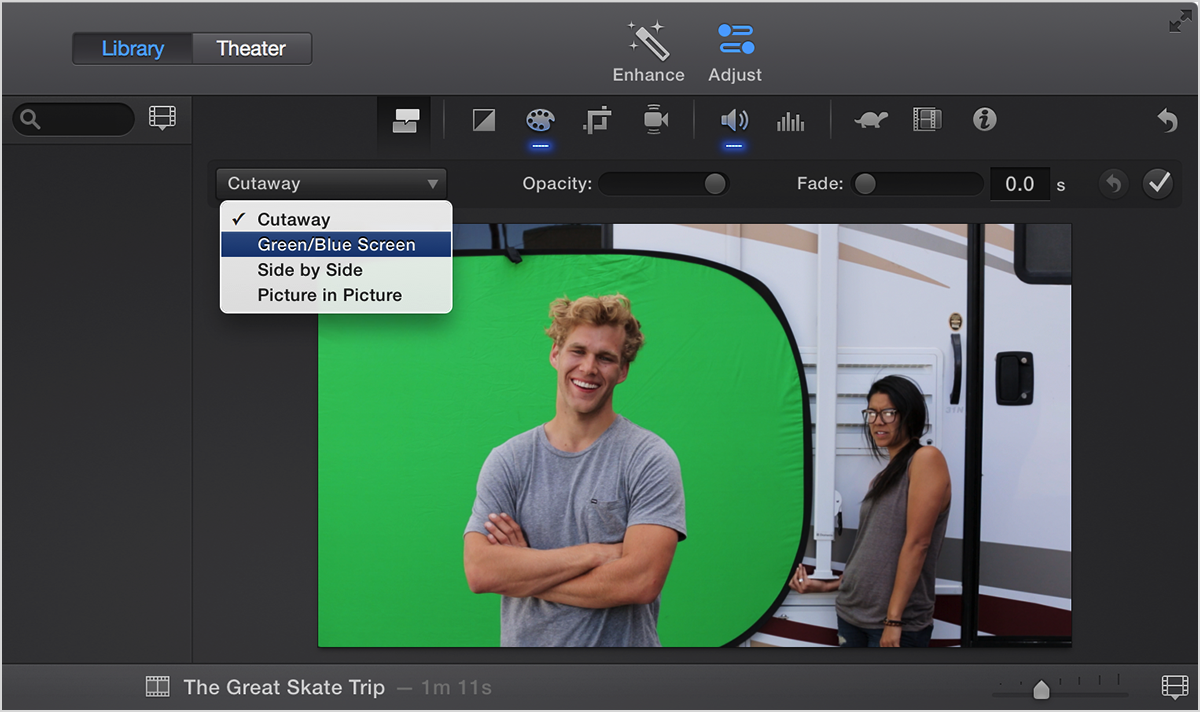 how to add a picture on a video in imovie