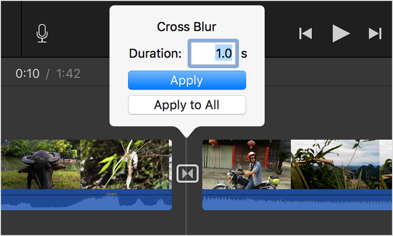 If you can't make a transition longer in iMovie - Apple Support