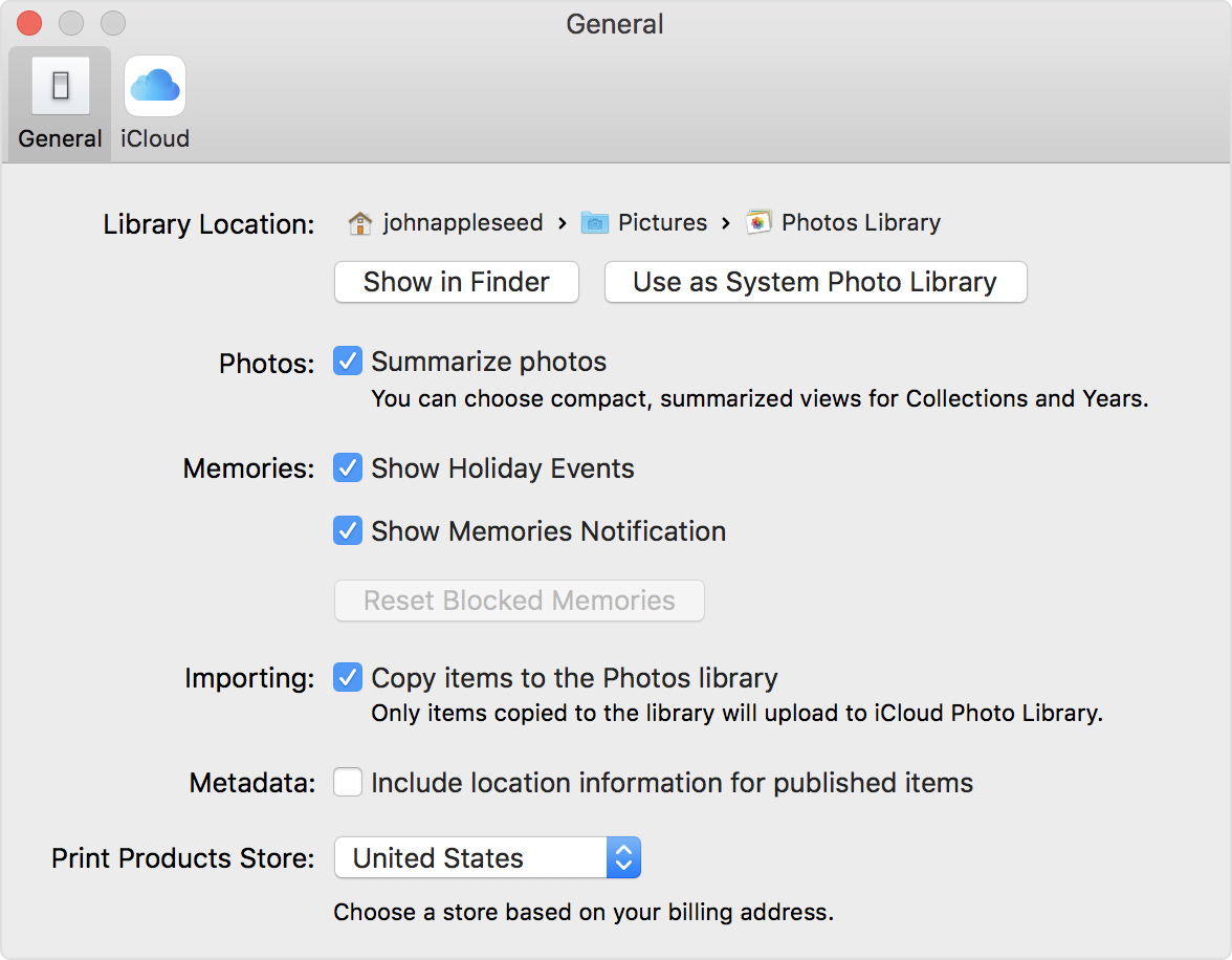 designate a system photo library in photos apple support