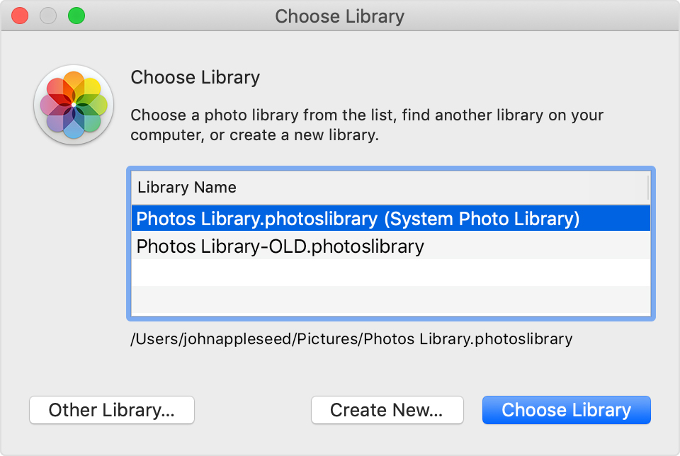 Find your pictures or albums after you migrate a library to