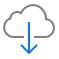 the Cloud Download button