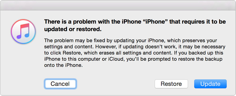 what does restore iphone do if you can t update or restore your iphone or ipod 3888