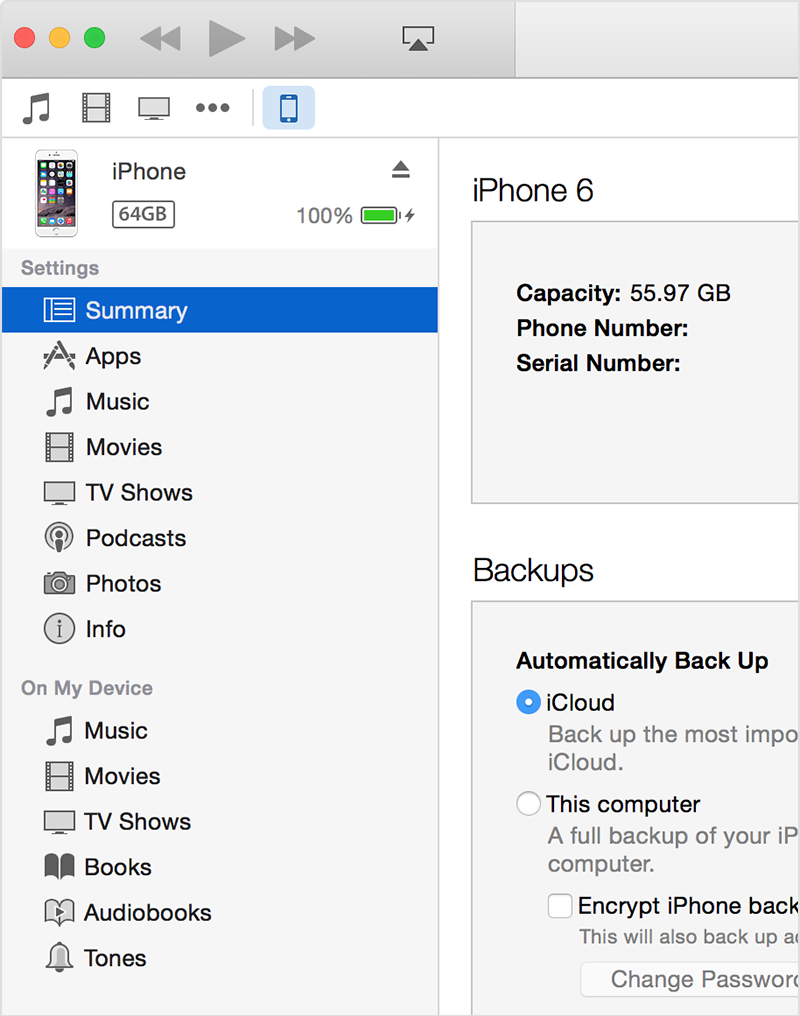 how to put itunes library on iphone