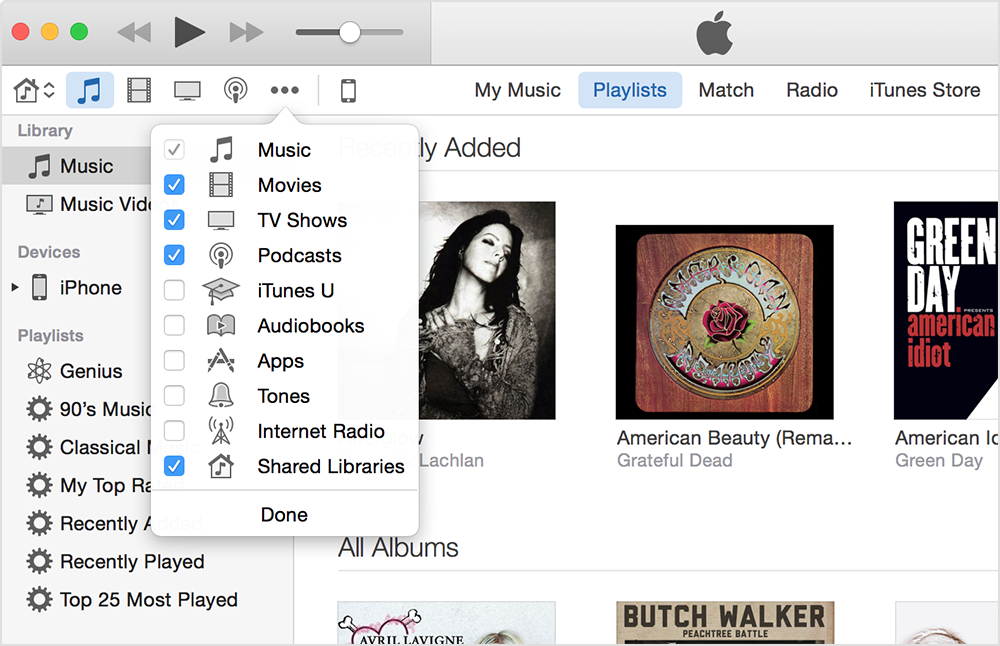 how do i access itunes music from Windows Media Player