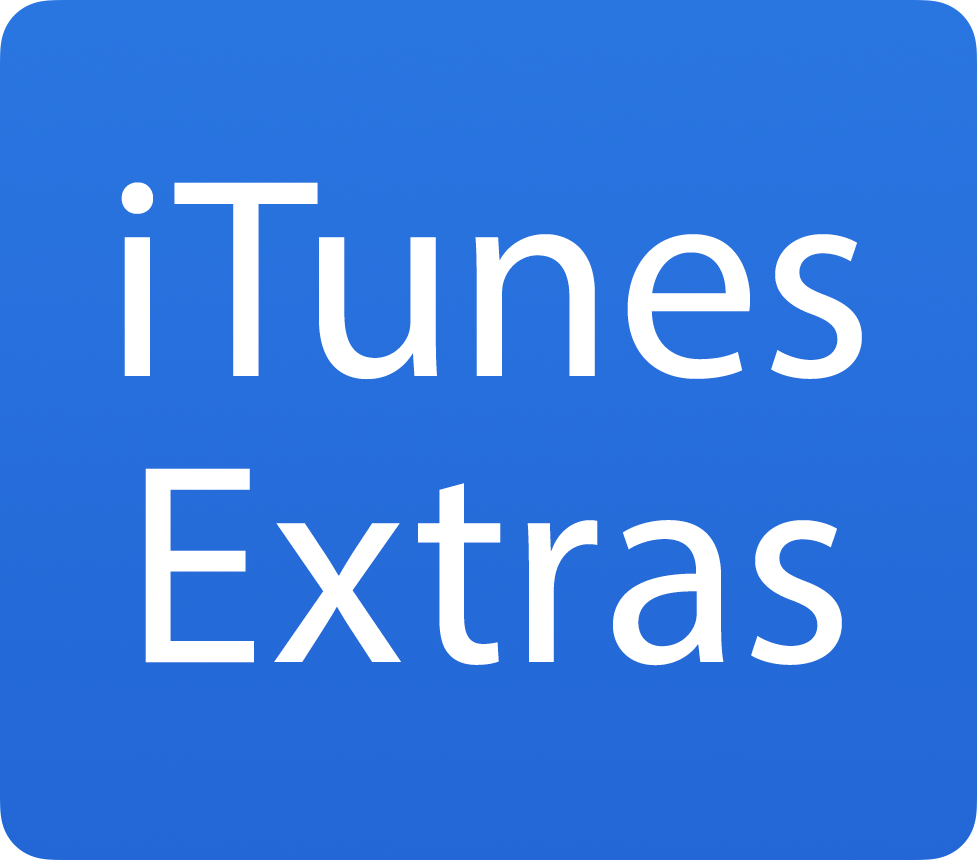 Blue iTunes Extras badge