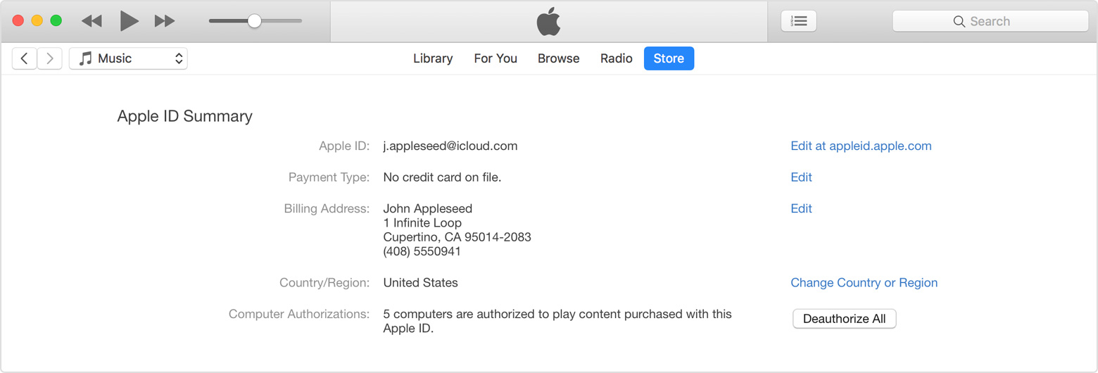 How to deactivate itunes account