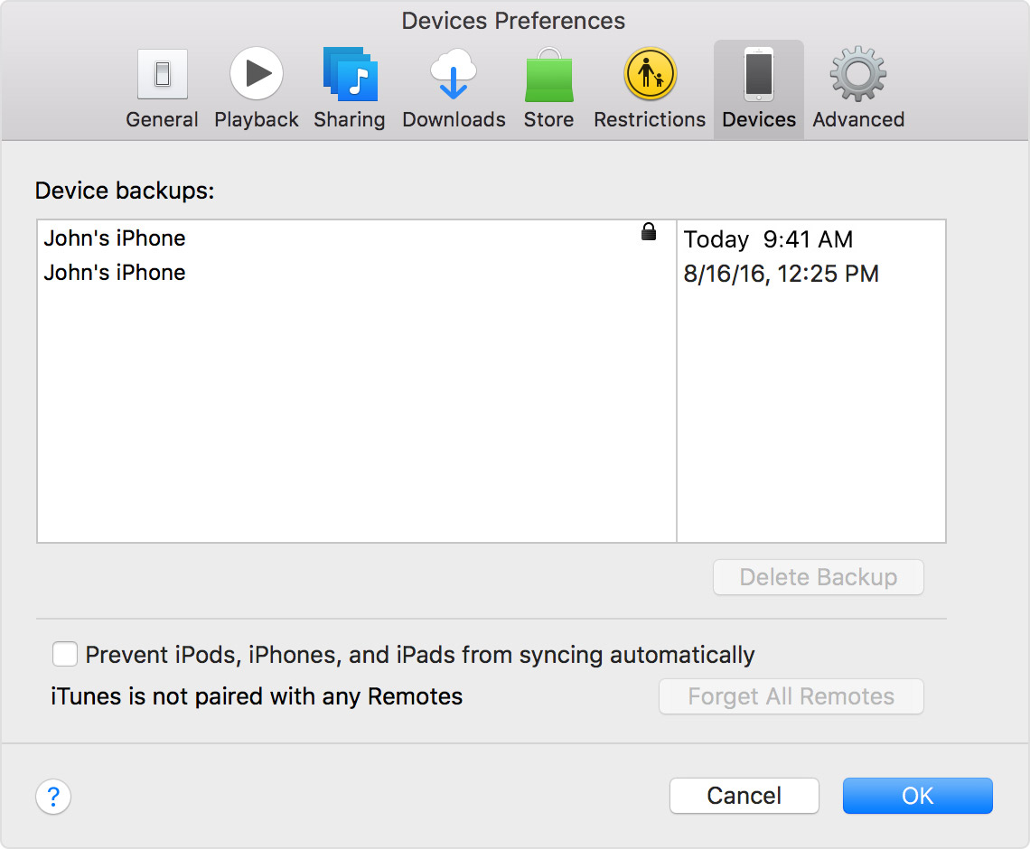 About encrypted backups in iTunes - Apple Support