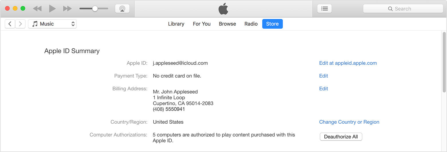 Apple itune login account