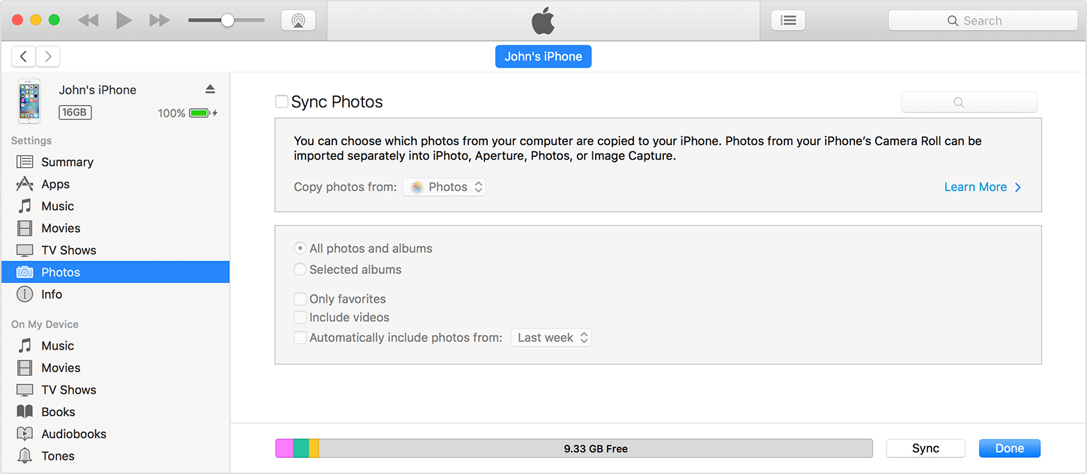 iphone not syncing itunes photos sync problem apple community 9875