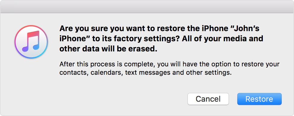 how to restore iphone to factory settings restore your iphone or ipod to factory settings 20253