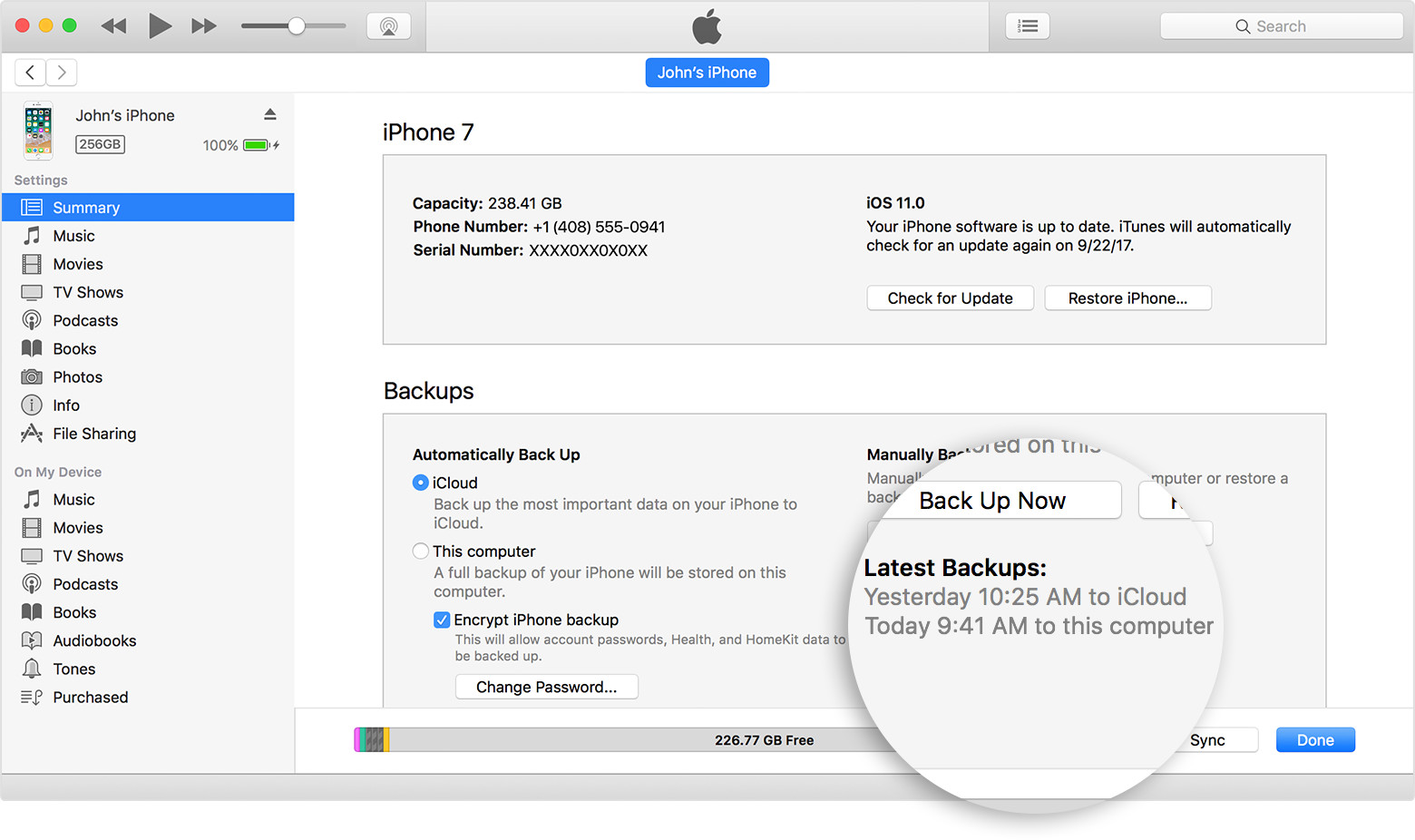 how to back up your ios device on itunes step 5
