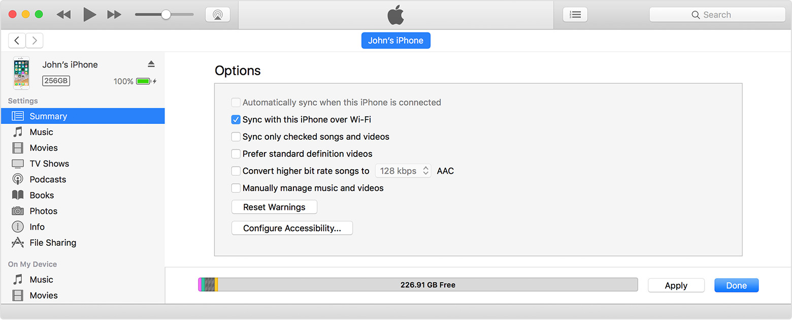 how to sync iphone with mac sync your iphone or ipod touch with itunes using wi 19132