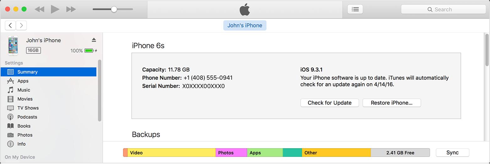 Downgrade do iOS 11 - iTunes