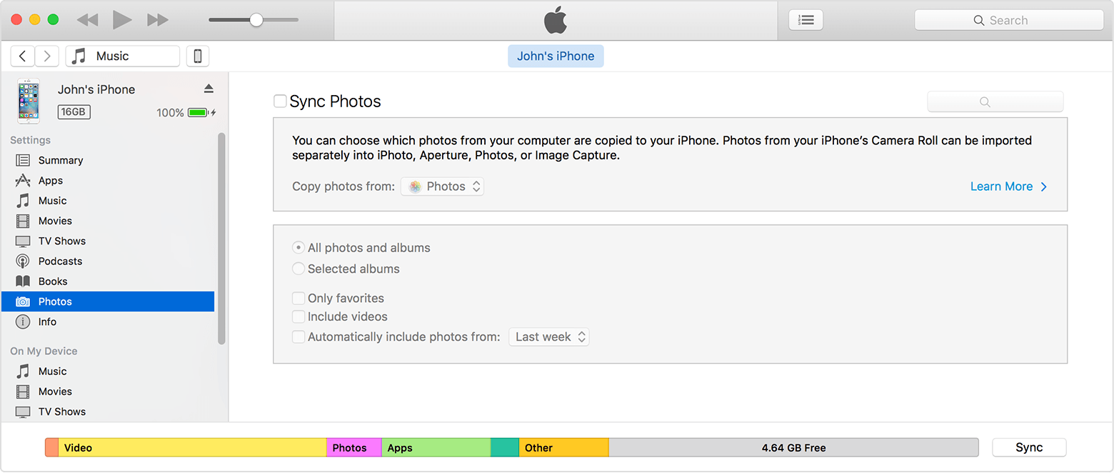 how to add photos app in the sidebar in finder
