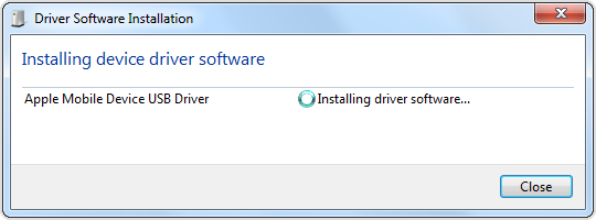 Wait while windows reinstalls the driver