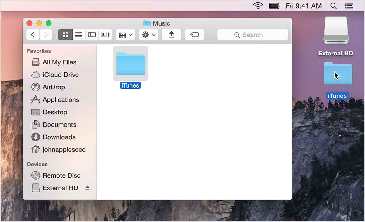 Drag The Itunes Folder In This Location Onto The Desktop Mac: From The Music  Folder