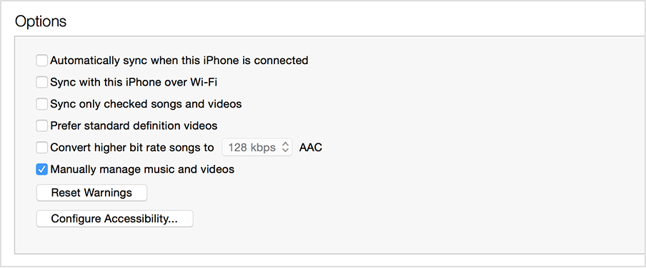 How to turn off auto sync in itunes when connected to iphone, ipad.
