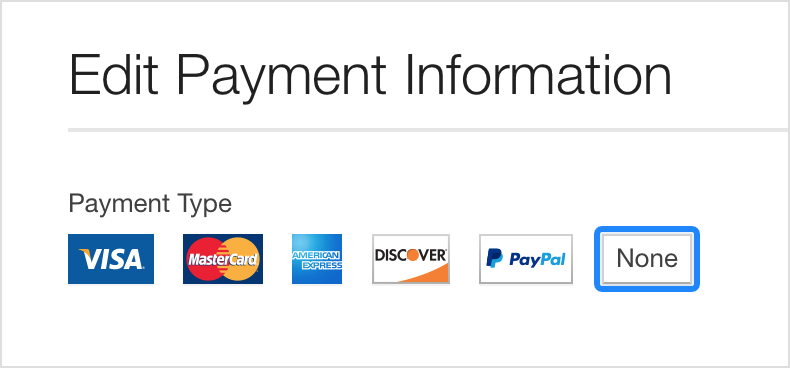 different types of payment methods