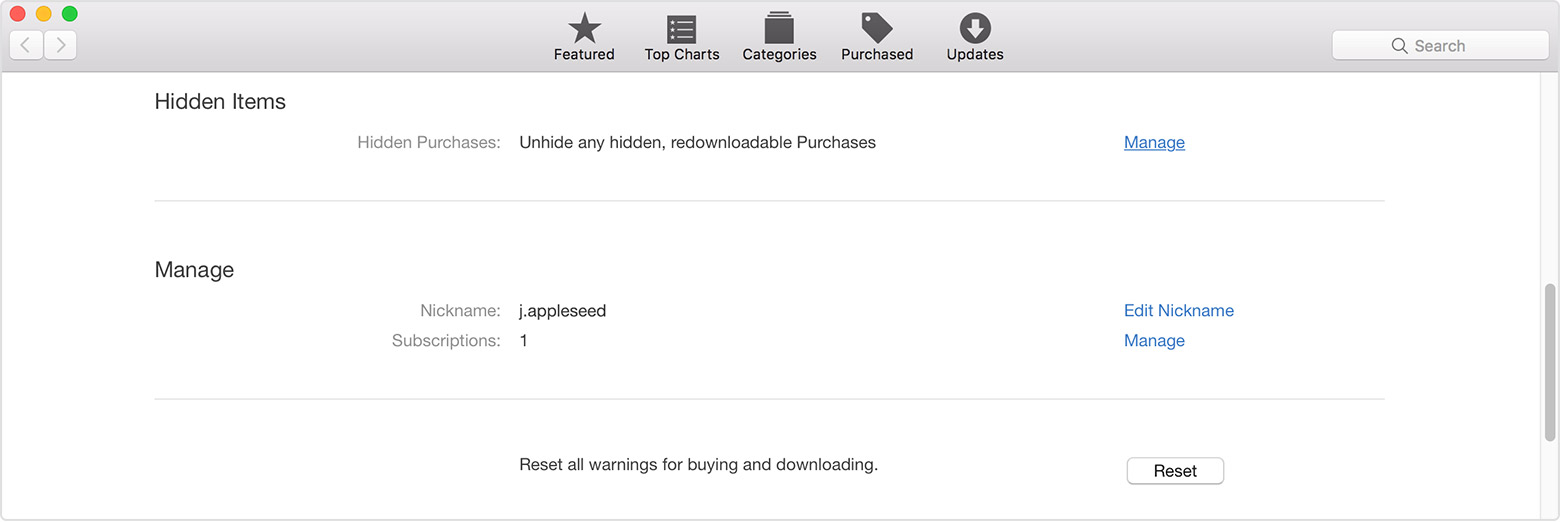 On The Accountrmation Page, Scroll To Hidden Items To The Right Of  Hidden Purchases, Click Manage